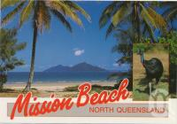 "<span class=""caption-caption"">A glimpse of Dunk Island from the palm fringed beach, Mission Beach</span>, c1970-2000. <br />Postcard, collection of <span class=""caption-contributor"">Murray Views Collection</span>."