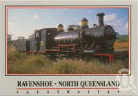 "<span class=""caption-caption"">Ravenshoe, ""The Steam Train""</span>, c1970-2000. <br />Postcard, collection of <span class=""caption-contributor"">Murray Views Collection</span>."