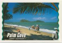 "<span class=""caption-caption"">Taking a camel ride along the beach, Palm Cove</span>, c1970-2000. <br />Postcard, collection of <span class=""caption-contributor"">Murray Views Collection</span>."