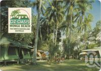 """<span class=""""caption-caption"""">Oz Oasis, Wonga Beach, Tropical gardens surround the accommodation facilities</span>, c1970-2000. <br />Postcard, collection of <span class=""""caption-contributor"""">Murray Views Collection</span>."""