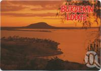 "<span class=""caption-caption"">Overlooking the Lodge, Lake Darymple and Mt McConnel at Sunset, Burdekin Lodge</span>, c1970-2000. <br />Postcard, collection of <span class=""caption-contributor"">Murray Views Collection</span>."