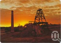 "<span class=""caption-caption"">Sunset over ""General Extended Mine Shaft"" on Buck Reef, Ravenswood</span>, c1970-2000. <br />Postcard, collection of <span class=""caption-contributor"">Murray Views Collection</span>."