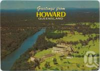 "<span class=""caption-caption"">Aerial view of Howard featuring the Old Power House</span>, c1970-2000. <br />Postcard, collection of <span class=""caption-contributor"">Murray Views Collection</span>."