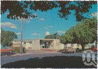 "<span class=""caption-caption"">Civic Centre, Chinchilla</span>, c1970-2000. <br />Postcard, collection of <span class=""caption-contributor"">Murray Views Collection</span>."