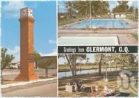 "<span class=""caption-caption"">FF Mills Testimonial Clock, Swimming Pool, The Lagoon, Clermont</span>, c1970-2000. <br />Postcard, collection of <span class=""caption-contributor"">Murray Views Collection</span>."