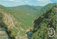 "<span class=""caption-caption"">The Valley of Diamonds is situated between Perseverance Dam and the proposed site for the new Cressbrook Dam, Crows Nest</span>, c1970-2000. <br />Postcard, collection of <span class=""caption-contributor"">Murray Views Collection</span>."