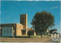 """<span class=""""caption-caption"""">Civic Centre, Cunnamulla</span>, c1970-2000. <br />Postcard, collection of <span class=""""caption-contributor"""">Murray Views Collection</span>."""