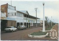 """<span class=""""caption-caption"""">Portion of Shopping Centre, Cunnamulla</span>, c1970-2000. <br />Postcard, collection of <span class=""""caption-contributor"""">Murray Views Collection</span>."""