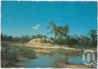 """<span class=""""caption-caption"""">Mud Springs, near Eulo, Cunnamulla</span>, c1970-2000. <br />Postcard, collection of <span class=""""caption-contributor"""">Murray Views Collection</span>."""