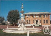 """<span class=""""caption-caption"""">Remembrance Fountain, Cunnamulla</span>, c1970-2000. <br />Postcard, collection of <span class=""""caption-contributor"""">Murray Views Collection</span>."""