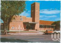 """<span class=""""caption-caption"""">Paroo Shire Council Chambers and Civic Centre, Cunnamulla</span>, c1970-2000. <br />Postcard, collection of <span class=""""caption-contributor"""">Murray Views Collection</span>."""
