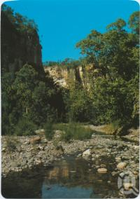 "<span class=""caption-caption"">Peace and tranquility prevail at the beautiful Carnarvon Ranges, Central Highlands</span>, c1970-2000. <br />Postcard, collection of <span class=""caption-contributor"">Murray Views Collection</span>."