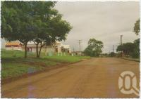 "<span class=""caption-caption"">Looking south down the main street of Bamaga, Cape York Peninsula</span>, c1970-2000. <br />Postcard, collection of <span class=""caption-contributor"">Murray Views Collection</span>."