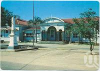 "<span class=""caption-caption"">Railway Station, Emerald</span>, c1970-2000. <br />Postcard, collection of <span class=""caption-contributor"">Murray Views Collection</span>."