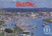 "<span class=""caption-caption"">Picturesque Auckland Creek, scene of the finish of the famous Brisbane to Gladstone Yacht Race and the Easter Aquatic Carnival, Gladstone</span>, c1970-2000. <br />Postcard, collection of <span class=""caption-contributor"">Murray Views Collection</span>."