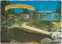 "<span class=""caption-caption"">Looking toward the Plaza Fountain from the Electronic Boats located on Main Street, Dreamworld, Coomera</span>, c1970-2000. <br />Postcard, collection of <span class=""caption-contributor"">Murray Views Collection</span>."