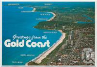 "<span class=""caption-caption"">Aerial view looking south from Burleigh Heads, Gold Coast</span>, c1970-2000. <br />Postcard, collection of <span class=""caption-contributor"">Murray Views Collection</span>."