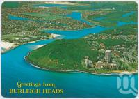 "<span class=""caption-caption"">Aerial view of Burleigh Heads looking towards Tallebudgera</span>, c1970-2000. <br />Postcard, collection of <span class=""caption-contributor"">Murray Views Collection</span>."