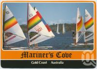 "<span class=""caption-caption"">Sailboarding, Mariner's Cove</span>, c1970-2000. <br />Postcard, collection of <span class=""caption-contributor"">Murray Views Collection</span>."