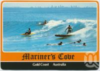 "<span class=""caption-caption"">Surfing, Mariner's Cove</span>, c1970-2000. <br />Postcard, collection of <span class=""caption-contributor"">Murray Views Collection</span>."