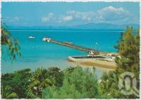 "<span class=""caption-caption"">Overlooking the Whitsunday Passage, showing the Heliport and island jetty, Hayman Island</span>, c1970-2000. <br />Postcard, collection of <span class=""caption-contributor"">Murray Views Collection</span>."