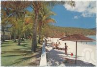 "<span class=""caption-caption"">The front lawns and beach featuring Blue Lagoon, Royal Hayman Hotel, Hayman Island</span>, c1970-2000. <br />Postcard, collection of <span class=""caption-contributor"">Murray Views Collection</span>."