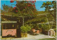 "<span class=""caption-caption"">Hayman ""Rock-it"" at station and glimpse of barbeque area, Royal Hayman Hotel, Hayman Island</span>, c1970-2000. <br />Postcard, collection of <span class=""caption-contributor"">Murray Views Collection</span>."