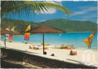 "<span class=""caption-caption"">Beach, featuring Blue Lagoon, Hayman Island</span>, c1970-2000. <br />Postcard, collection of <span class=""caption-contributor"">Murray Views Collection</span>."
