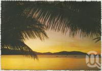 "<span class=""caption-caption"">Tropical Sunset, Hayman Island</span>, c1970-2000. <br />Postcard, collection of <span class=""caption-contributor"">Murray Views Collection</span>."
