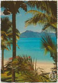 "<span class=""caption-caption"">The Beach looking towards Hook Islands, Hayman Island, Great Barrier Reef</span>, c1970-2000. <br />Postcard, collection of <span class=""caption-contributor"">Murray Views Collection</span>."