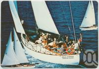 "<span class=""caption-caption"">Hamilton Island House-guests sail the magnificent 60' Sloop ""Banjo Paterson"" to uninhabited islands in the Whitsundays</span>, c1970-2000. <br />Postcard, collection of <span class=""caption-contributor"">Murray Views Collection</span>."