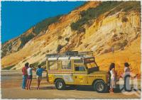 "<span class=""caption-caption"">Cooloola Coast, towering cliffs of coloured sand can be seen at Teewah, Cooloola and Fraser Island</span>, c1970-2000. <br />Postcard, collection of <span class=""caption-contributor"">Murray Views Collection</span>."