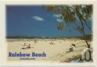 "<span class=""caption-caption"">The gateway to beautiful Fraser Island, Rainbow Beach is also famous for its beautiful colourful sands</span>, c1970-2000. <br />Postcard, collection of <span class=""caption-contributor"">Murray Views Collection</span>."