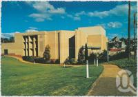 "<span class=""caption-caption"">Civic Centre in picturesque garden setting, Gympie</span>, c1970-2000. <br />Postcard, collection of <span class=""caption-contributor"">Murray Views Collection</span>."