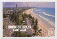 "<span class=""caption-caption"">Overlooking Burleigh Heads surfing beach and looking north towards Surfers Paradise</span>, c1970-2000. <br />Postcard, collection of <span class=""caption-contributor"">Murray Views Collection</span>."