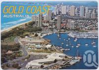 "<span class=""caption-caption"">Aerial view featuring Fishermans Wharf and Southport Yacht Club, Surfers Paradise in the background</span>, c1970-2000. <br />Postcard, collection of <span class=""caption-contributor"">Murray Views Collection</span>."