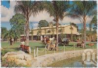 "<span class=""caption-caption"">Looking across the picturesque grounds to the ""Hall of Fame"" with its imposing clock tower, The Palms Horse Stud Farm, Nerang</span>, c1970-2000. <br />Postcard, collection of <span class=""caption-contributor"">Murray Views Collection</span>."
