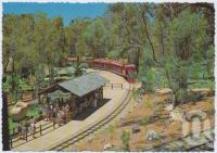 "<span class=""caption-caption"">The Cannon Ball Express arrives at Rocky Hollow, Dreamworld, Coomera</span>, c1970-2000. <br />Postcard, collection of <span class=""caption-contributor"">Murray Views Collection</span>."