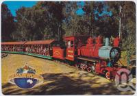 "<span class=""caption-caption"">Cannonball Express rounds the track, Dreamworld, Coomera</span>, c1970-2000. <br />Postcard, collection of <span class=""caption-contributor"">Murray Views Collection</span>."
