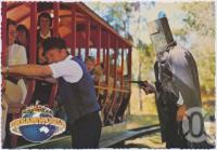 "<span class=""caption-caption"">Dreamworld's Ned Kelly, ""Your money or your life"", Coomera</span>, c1970-2000. <br />Postcard, collection of <span class=""caption-contributor"">Murray Views Collection</span>."