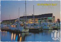 "<span class=""caption-caption"">Evening approaches over the Runaway Bay Marina</span>, c1970-2000. <br />Postcard, collection of <span class=""caption-contributor"">Murray Views Collection</span>."