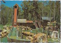 "<span class=""caption-caption"">Thrills aplenty on the Rocky Hollow Log Ride, Dreamworld, Coomera</span>, c1970-2000. <br />Postcard, collection of <span class=""caption-contributor"">Murray Views Collection</span>."