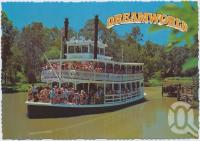 "<span class=""caption-caption"">Cruising down the Murrisippi River on the Captain Sturt Paddle Wheeler, Dreamworld, Coomera</span>, c1970-2000. <br />Postcard, collection of <span class=""caption-contributor"">Murray Views Collection</span>."