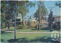 "<span class=""caption-caption"">The Railway Station set in parklands has been designed to bring back setting of the old days, Dreamworld, Coomera</span>, c1970-2000. <br />Postcard, collection of <span class=""caption-contributor"">Murray Views Collection</span>."