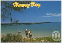 "<span class=""caption-caption"">Urangan Pier, once a busy loading wharf, now a favourite fishing spot</span>, c1970-2000. <br />Postcard, collection of <span class=""caption-contributor"">Murray Views Collection</span>."