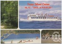 "<span class=""caption-caption"">MV ""Islander"" Fraser Island Cruises and 4WD Tours</span>, c1970-2000. <br />Postcard, collection of <span class=""caption-contributor"">Murray Views Collection</span>."