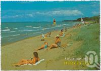 "<span class=""caption-caption"">Hervey Bay is a perfect family holiday resort with its beautiful tree-lined beaches</span>, c1970-2000. <br />Postcard, collection of <span class=""caption-contributor"">Murray Views Collection</span>."