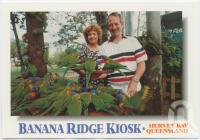 "<span class=""caption-caption"">Rainbow Lorikeets feeding at Banana Ridge Kiosk, Pialba</span>, c1970-2000. <br />Postcard, collection of <span class=""caption-contributor"">Murray Views Collection</span>."