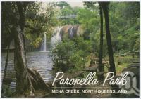 "<span class=""caption-caption"">The picnic area and falls below Paronella Castle, Paronella Park, Mena Creek</span>, c1970-2000. <br />Postcard, collection of <span class=""caption-contributor"">Murray Views Collection</span>."