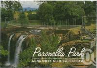 "<span class=""caption-caption"">The Swing Bridge crosses Mena Falls, Paronella Park</span>, c1970-2000. <br />Postcard, collection of <span class=""caption-contributor"">Murray Views Collection</span>."